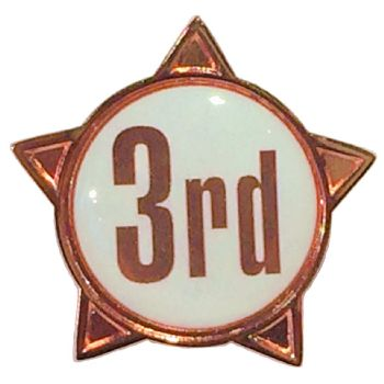 3rd titled star shape badge